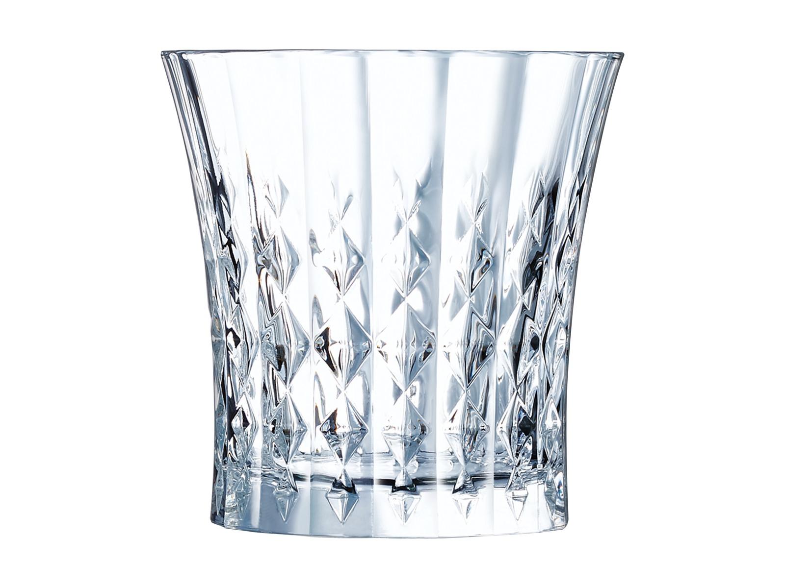 Cristal Darques Lady Diamond.Cristal D Arques Lady Diamond Old Fashioned Set Of 6 Tumblers 270ml