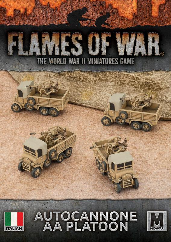 Flames of War: Autocannone AA Platoon (x4)
