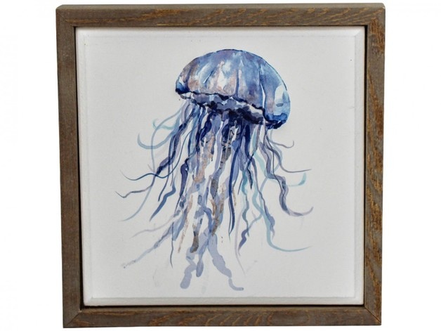 LaVida: Framed Canvas - Jellyfish (Small)