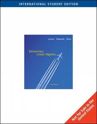 Elementary Linear Algebra by Ron Larson image