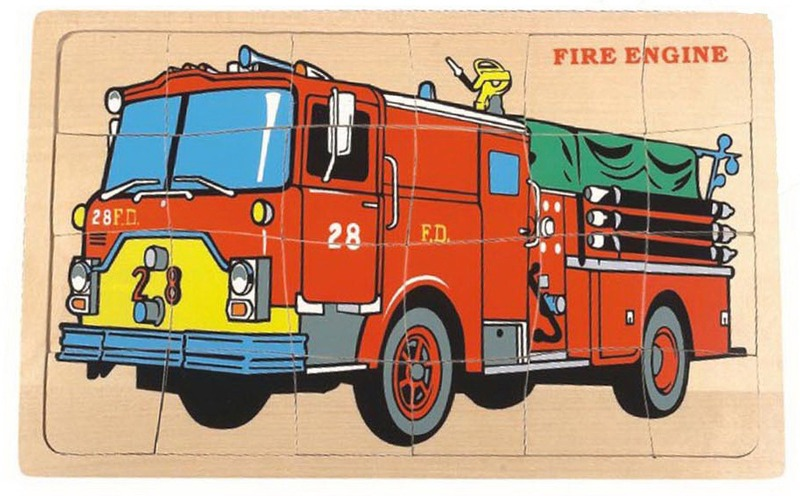 Fun Factory: Fire Engine Jigsaw Puzzle image