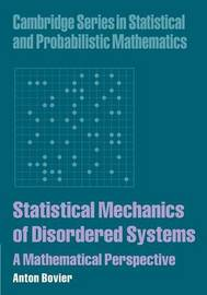Statistical Mechanics of Disordered Systems by Anton Bovier image