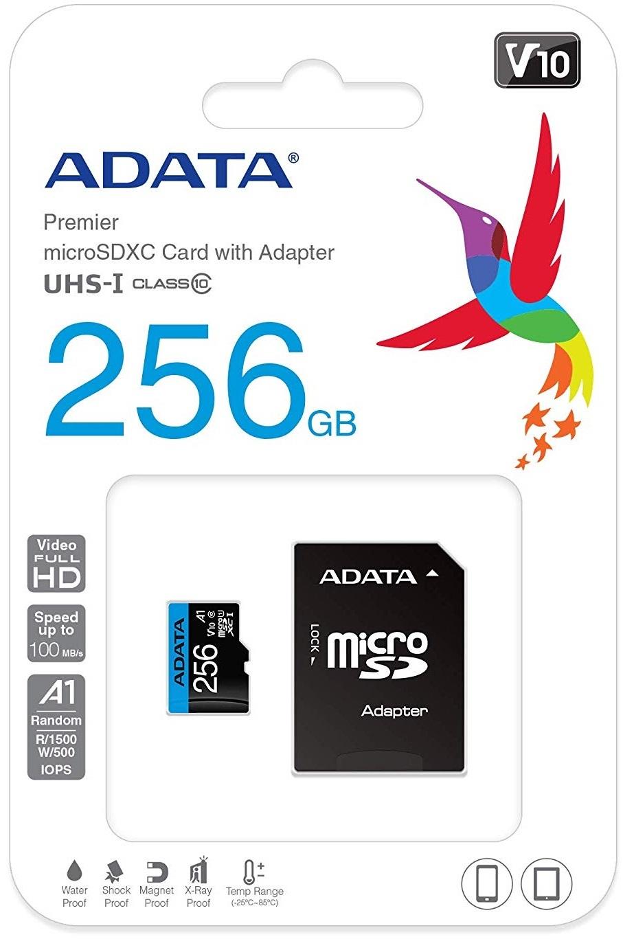 256GB Adata Premier A1 Class Smartphone MicroSD image