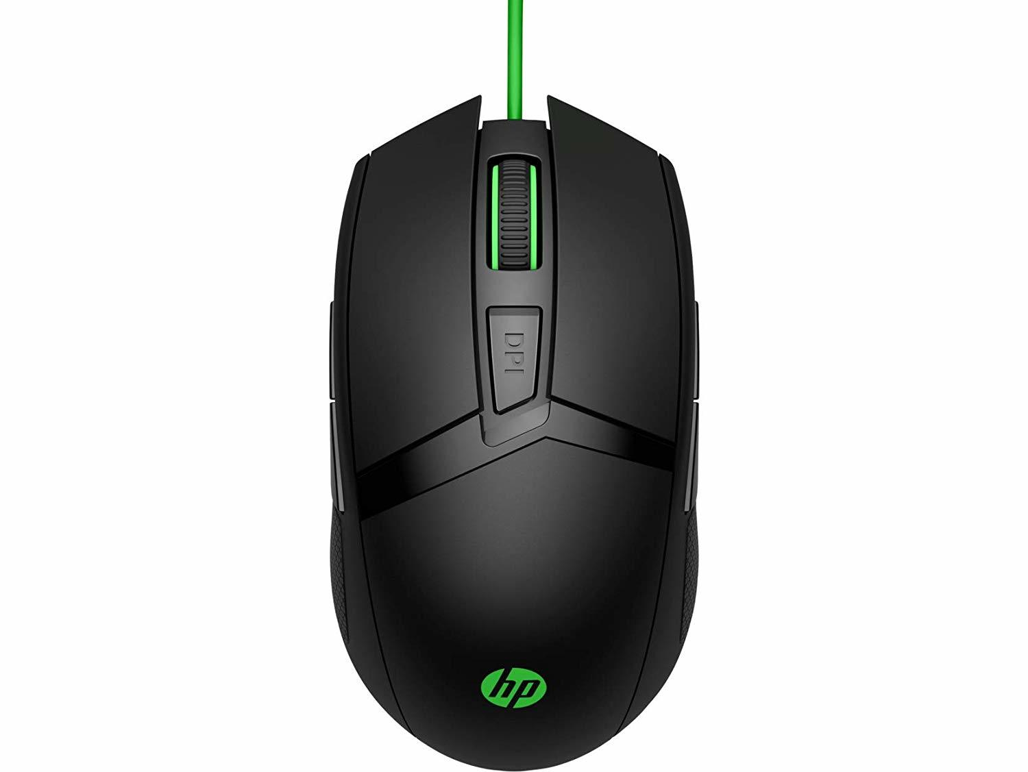 HP 300 Pavilion Gaming Mouse (Green Cable) for PC image