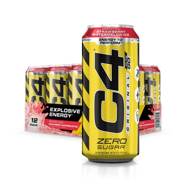 Cellucor: C4 Carbonated On-The-Go RTD - Strawberry Watermelon Ice (473ml)