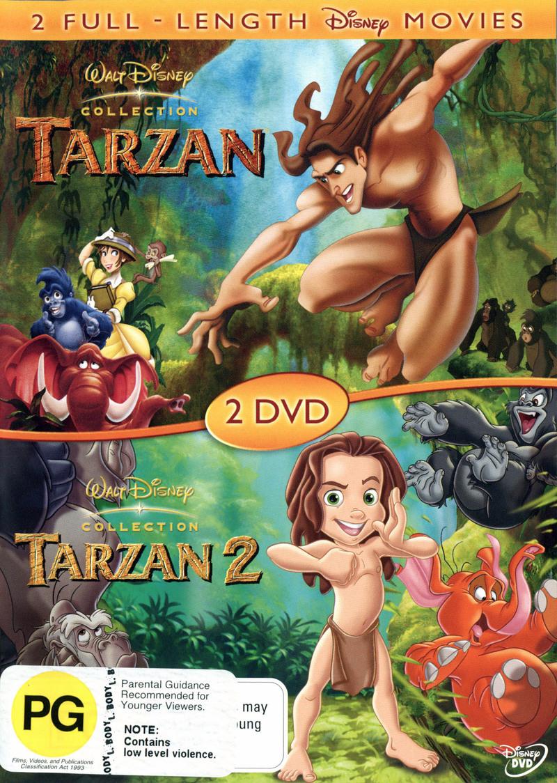 Tarzan / Tarzan 2 (2 Disc Set) on DVD image