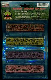 JTT: HO Scale Flower Hedges - 8 Pack