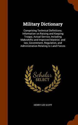 Military Dictionary by Henry Lee Scott image