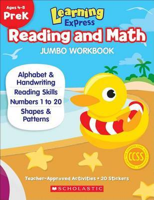 Learning Express Reading and Math Jumbo Workbook Prek by Scholastic Teaching Resources image