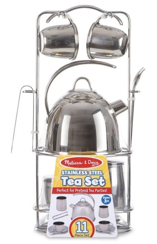 Melissa & Doug: Stainless Steel Tea Set
