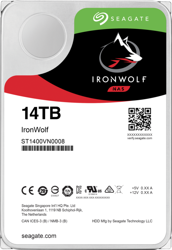 "14TB Seagate IronWolf 3.5"" 7200RPM SATA NAS HDD"