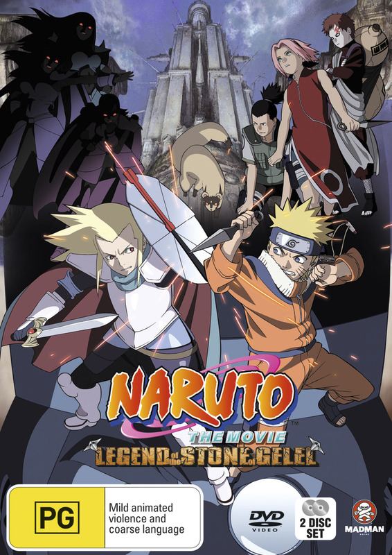 Naruto - The Movie 2: Legend of the Stone of Gelel on DVD