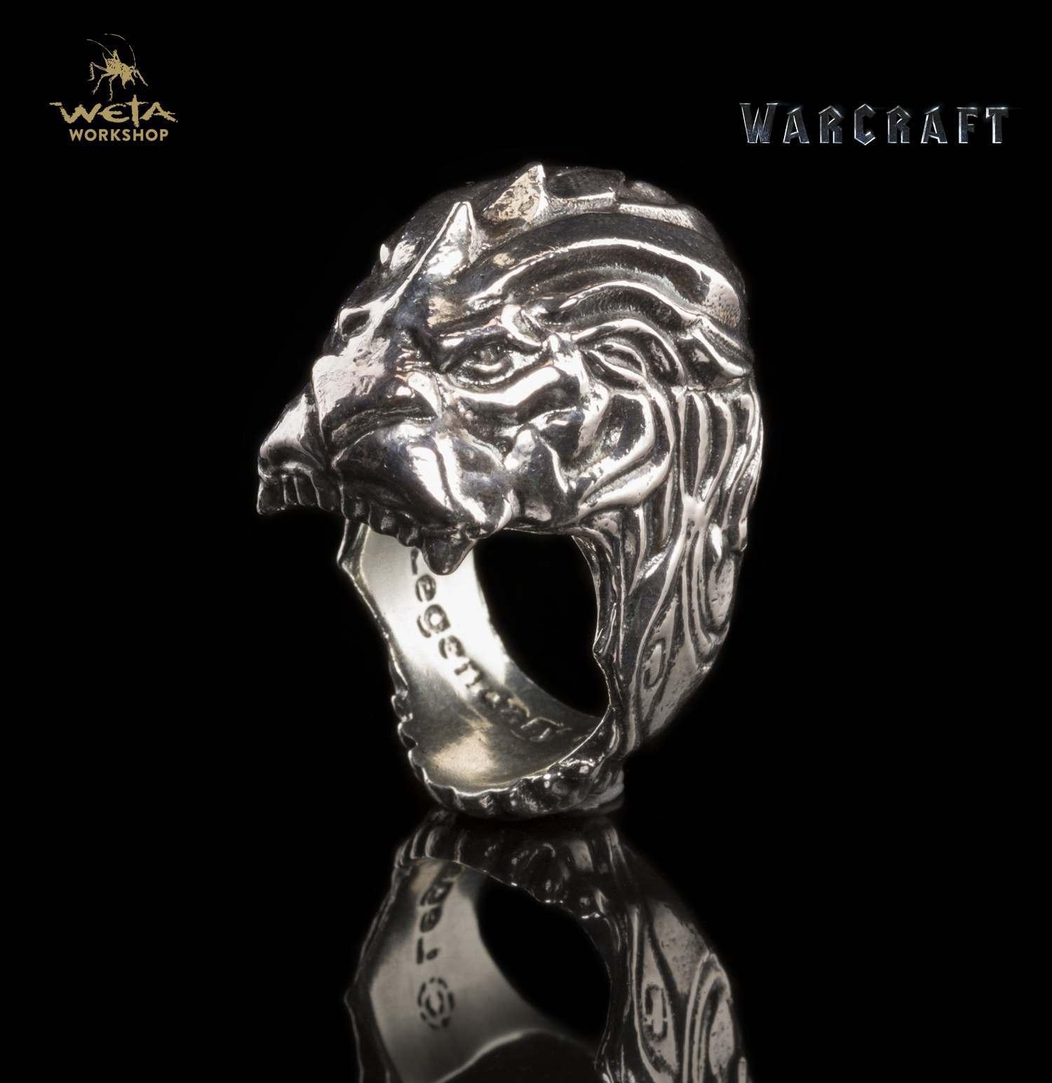 Warcraft Movie King LLane Lion Head Ring Size 11 image