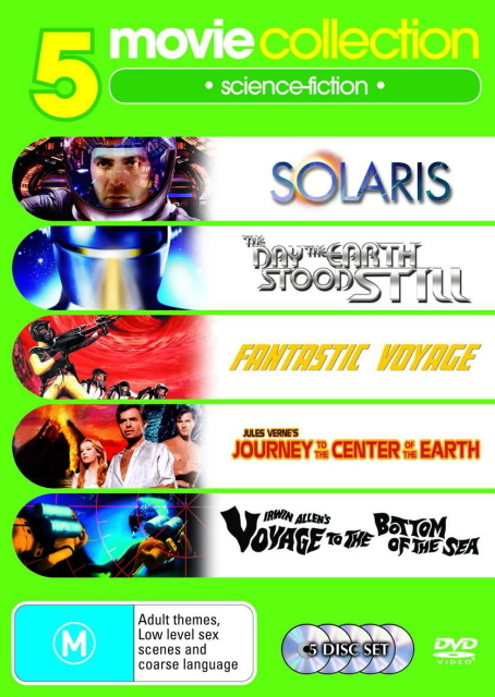 Fantastic Voyage / The Day The Earth Stood Still / Journey To The Centre Of Earth / Voyage To The Bottom Of The Sea / Solaris (5 Disc Set) on DVD