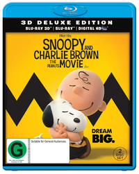 Snoopy And Charlie Brown The Peanuts Movie on Blu-ray, 3D Blu-ray