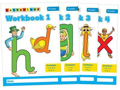 Letterland Workbooks: No. 1-4 by Lyn Wendon image