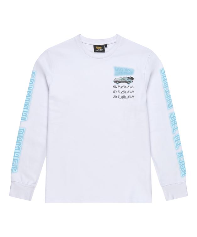 Criminal Damage: Time Code Long Sleeve Top (White) - M