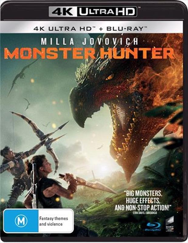 Monster Hunter (4K UHD + Blu-Ray) on UHD Blu-ray