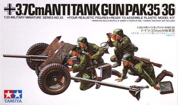 Tamiya German 37mm Anti-tank Gun 1:35 Model Kit