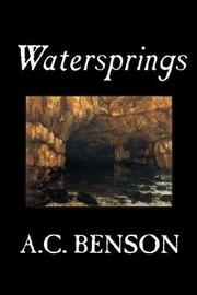 Watersprings by A.C. Benson image