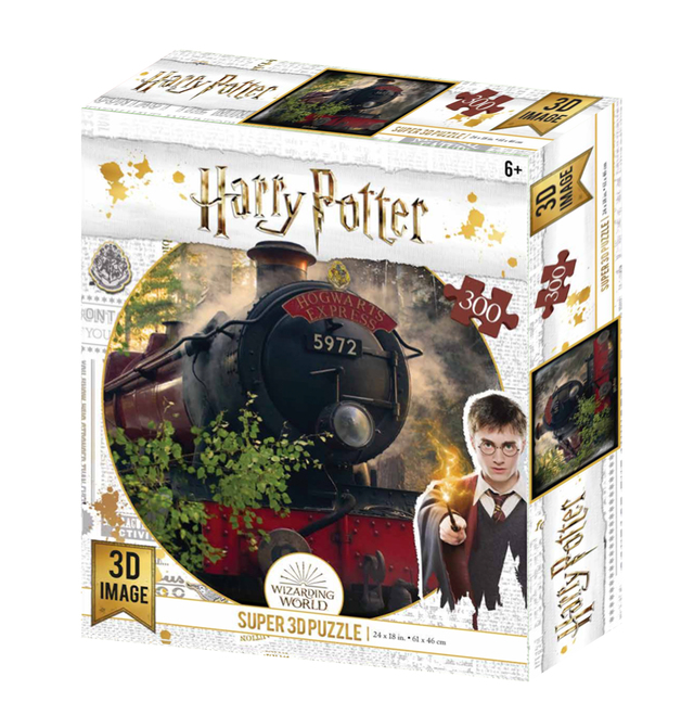 Super 3D: 300-Piece Jigsaw Puzzle - Harry Potter: The Hogwarts Express