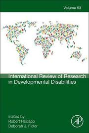 International Review of Research in Developmental Disabilities: Volume 53 image