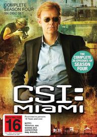CSI - Miami: Complete Season 4 on DVD image