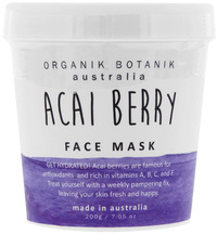 Organik Botanik Face Mask Tub - Acai Berry (200gm)