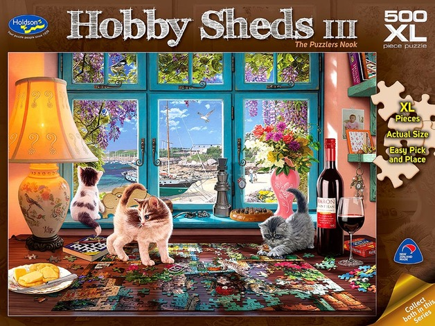 Holdson XL: 500 Piece Puzzle - Hobby Sheds S3 (The Puzzlers Nook)