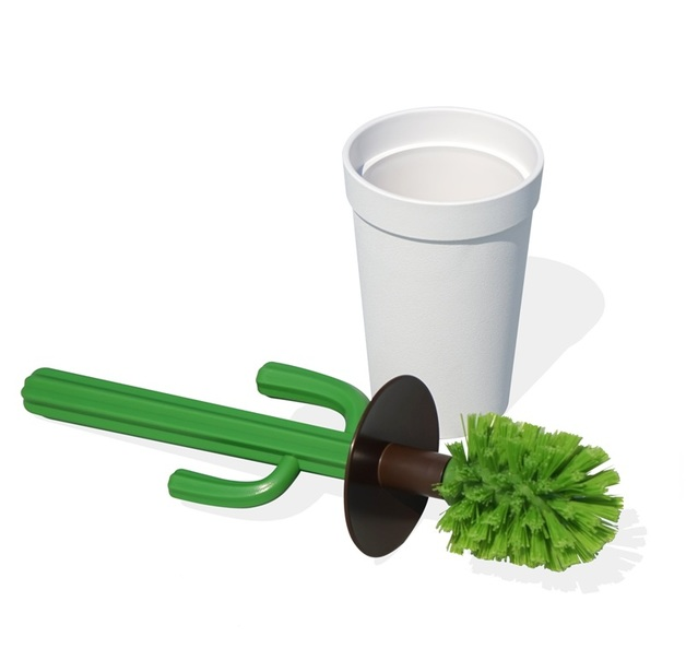 Qualy Cacbrush Toilet Brush (White/Green)