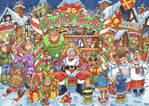 Wasgij: 1000 Piece Puzzle - Xmas #14 (Santa's Little Helper)