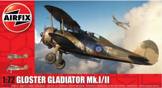 Airfix 1:72 Gloster Gladiator MKI/MKII Scale Model Kit