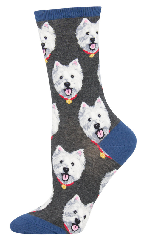 Socksmith: Womens Westies - Charcoal Heather