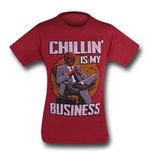 Deadpool Chillin' Business T-Shirt (Large)