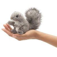 Folkmanis Mini Finger Puppet - Grey Squirrel