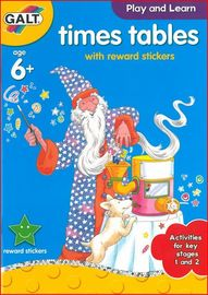 Times Tables Sticker Reward Book - by Galt