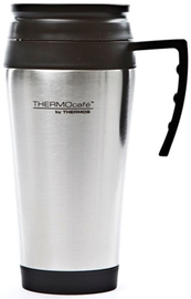 Thermos: ThermoCafe Stainless Steel Travel Mug - Silver (400ml)