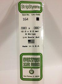 Evergreen Styrene Stripstyrene White 2 mm Sq (9)