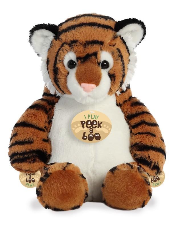 Aurora: Peek A Boo Plush - Tiger