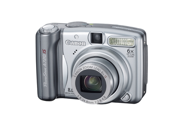 Canon A720IS 8.0Mp 6x Optical Dig Camera Bundle