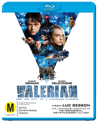 Valerian And The City Of A Thousand Planets on Blu-ray