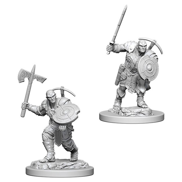 D&D Nolzur's Marvelous: Unpainted Miniatures - Earth Genasi Male Fighter