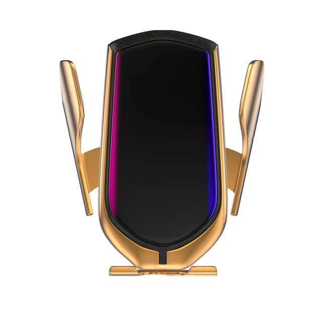 Automatic Clamping Phone Wireless Charging Holder - Gold