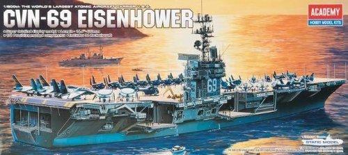Academy USS CVN-69 Eisenhower 1/800 Model Kit