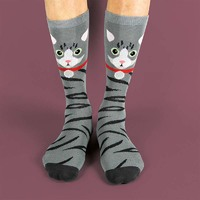 Sockimals - Grey Tabby Cat