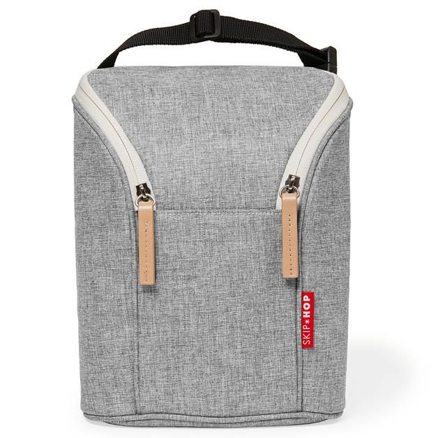 Skip Hop: Double Bottle Bag - Grey Melange