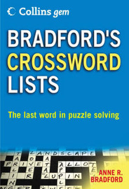 Bradford's Crossword Lists by Anne R Bradford