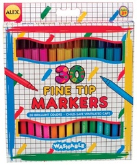 Alex: Washable Fine Tip Markers - 30