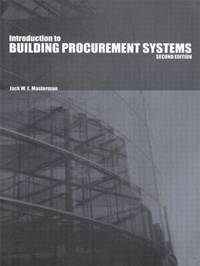 Introduction to Building Procurement Systems by Jack Masterman image