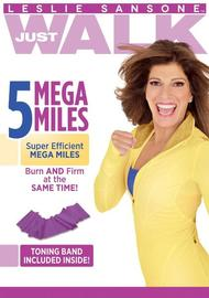 Leslie Sansone Just Walk: 5 Mega Miles with Band on DVD